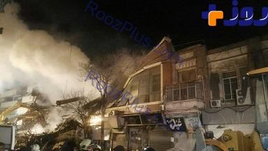 ساختمان کنار پلاسکو هم تخریب شد