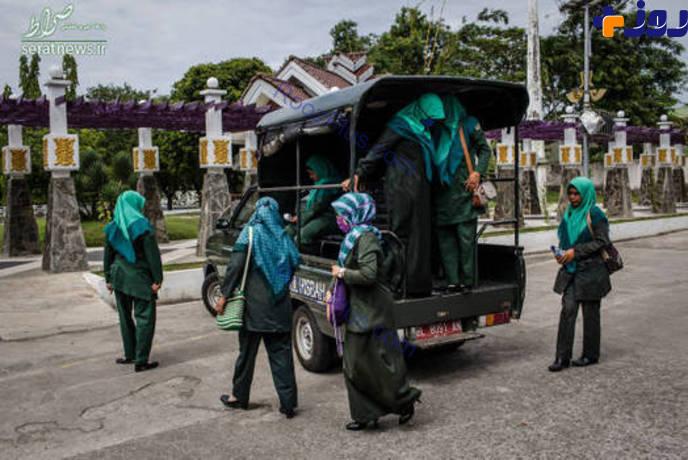 اندونزی هم گشت ارشاد دارد! +تصاویر