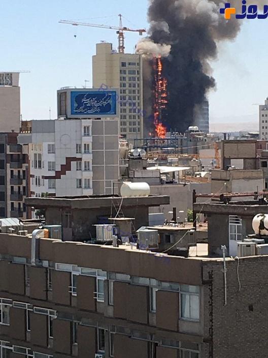 فوری/ آتش سوزی در یکی از هتلهای خیابان امام رضا (ع) مشهد+ عکس