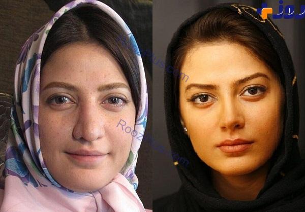 بازیگر معروف زن قبل و بعد از گریم متفاوت/عکس