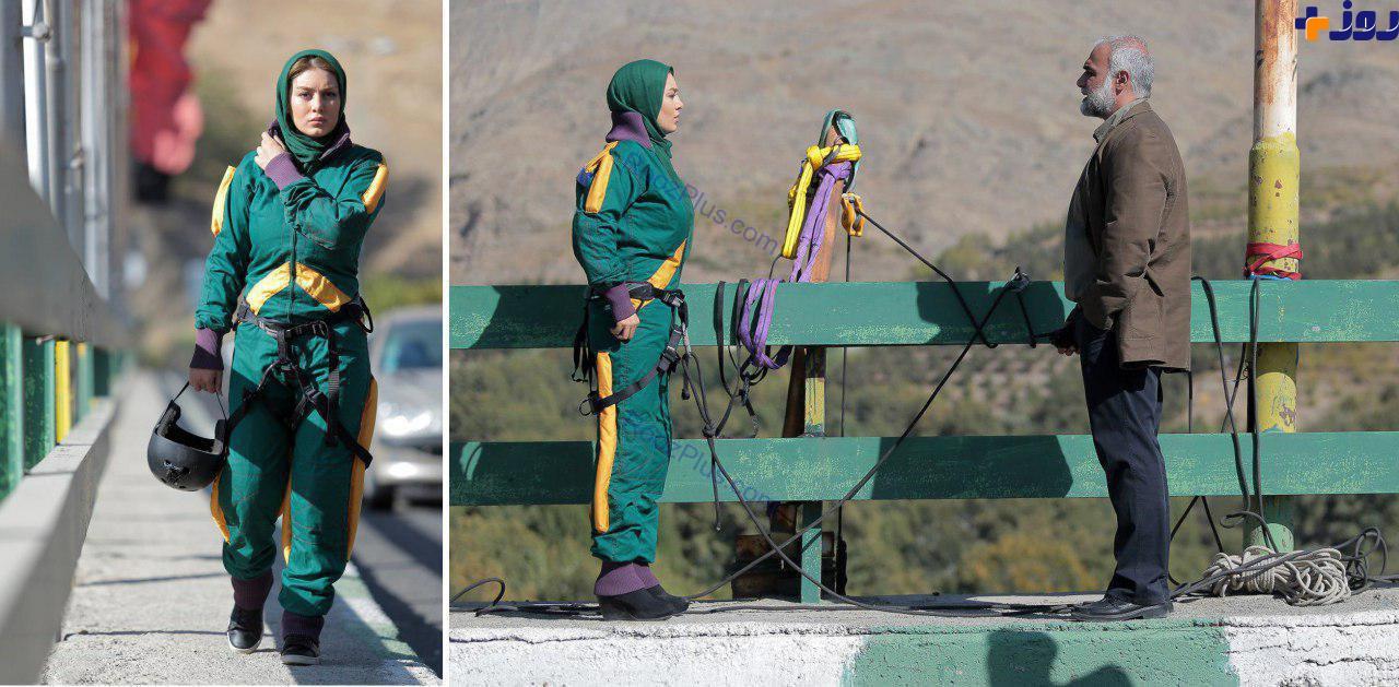 عکس/ سقوط آزاد سحر قریشی از روی یک پل