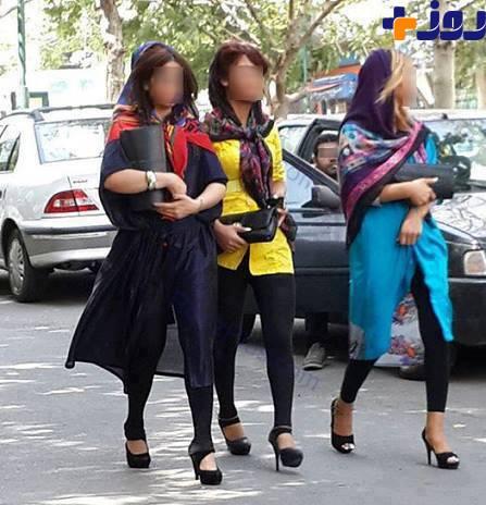 زنان نیمه لخت در خیابانهای تهران +عکس