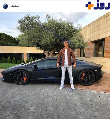 رونالدو در کنار خودرو لوکسش+ عکس