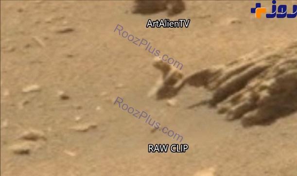 مشاهده موجودی عجیب در مریخ +تصاویر