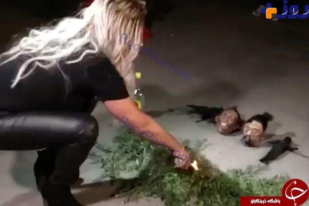 تصادف وحشتناک زن جن گیر را به خیابان کشاند +تصاویر