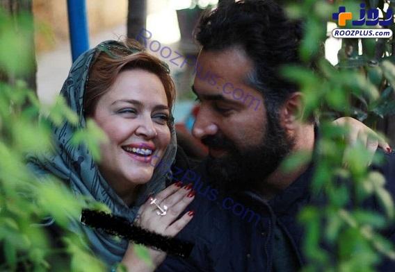 جدیدترین عکس های بهاره رهنما در آغوش همسرش