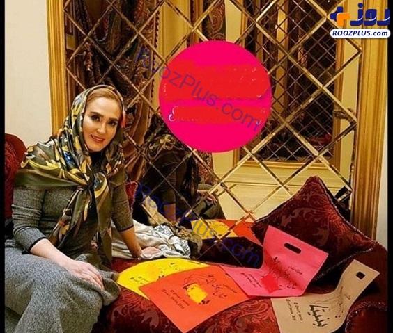 خانم بازیگر در لباسی دیده نشده برای یک تبلیغ/عکس