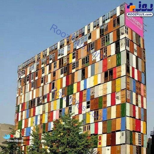 ساختمانی عجیب با 1000 درب +عکس