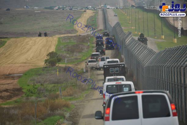 بازدید ترامپ از دیوار بین آمریکا و مکزیک + تصاویر