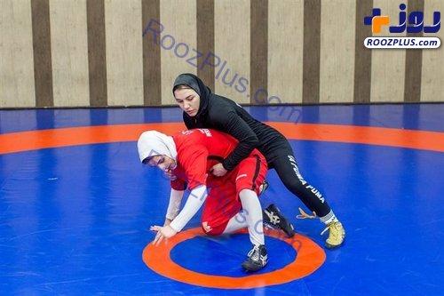 تصاویری از تمرین تیم ملی کشتی زنان ایران