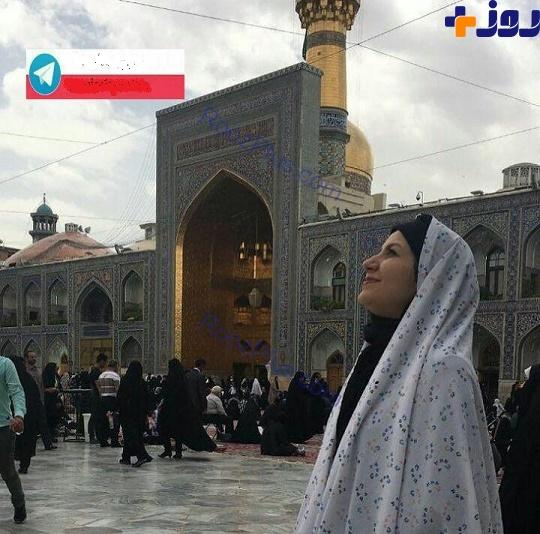 ژست خانم مجری مشهور در حرم امام رضا (ع)