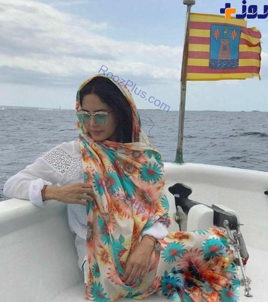 خوشگذرانی الناز شاکردوست در قایق های تفریحی خارجی+ عکس