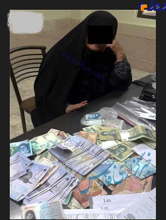 پیرزن گدایی که هنگام دستگیری 4 میلیون پول نقد داشت+عکس