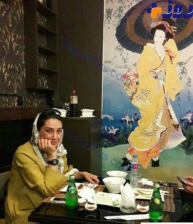 جدیدترین عکس از ظاهر تغییریافته هدیه تهرانی در یک رستوران+ عکس