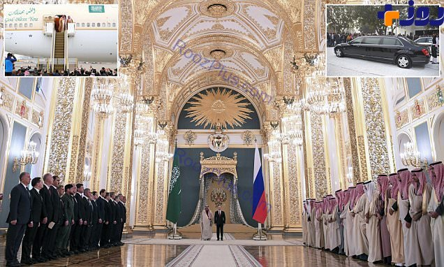 ریخت و پاش مجلل ملک سلمان در اولین سفرش به روسیه+ تصاویر