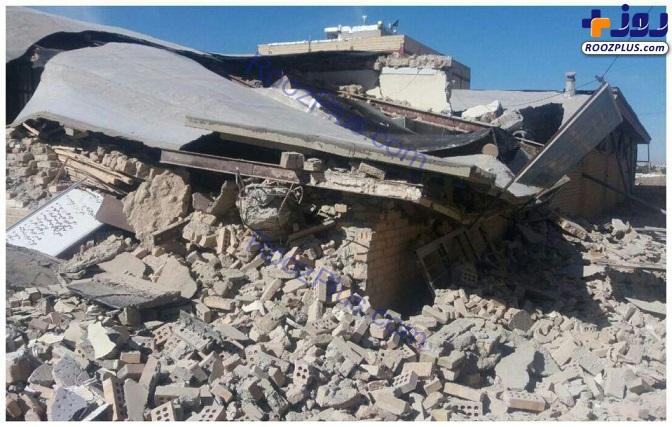 مدرسه تخریب شده در سرپل ذهاب +تصاویر