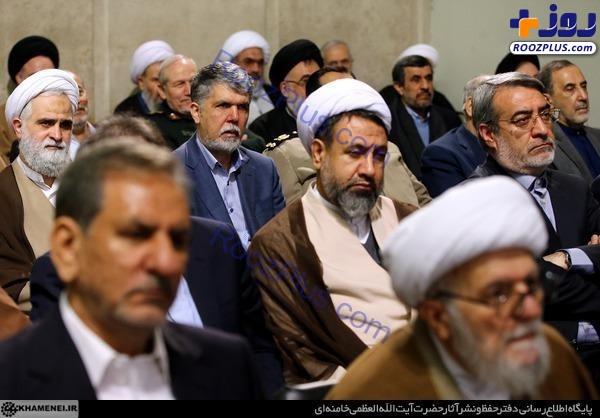 عكس/ حضور احمدی نژاد در دیدار با مقام معظم رهبری