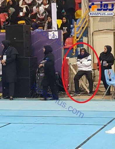 ماجرای حجاب اجباری آقای مربی در ایران+عکس