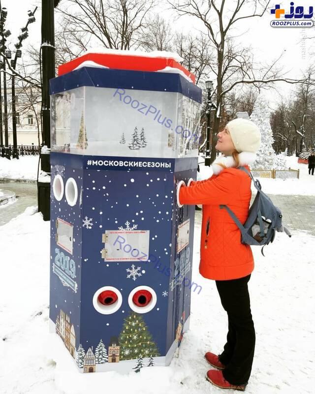 ایده جالب شهرداری مسکو برای گرم کردن مردم+عکس