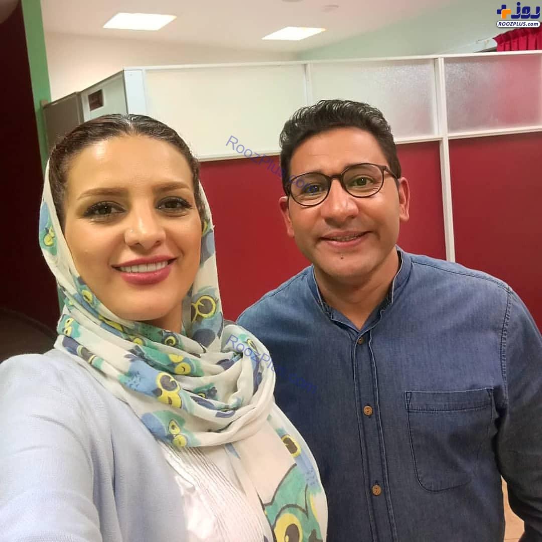 سروش جمشیدی به همراه همسرش +عکس