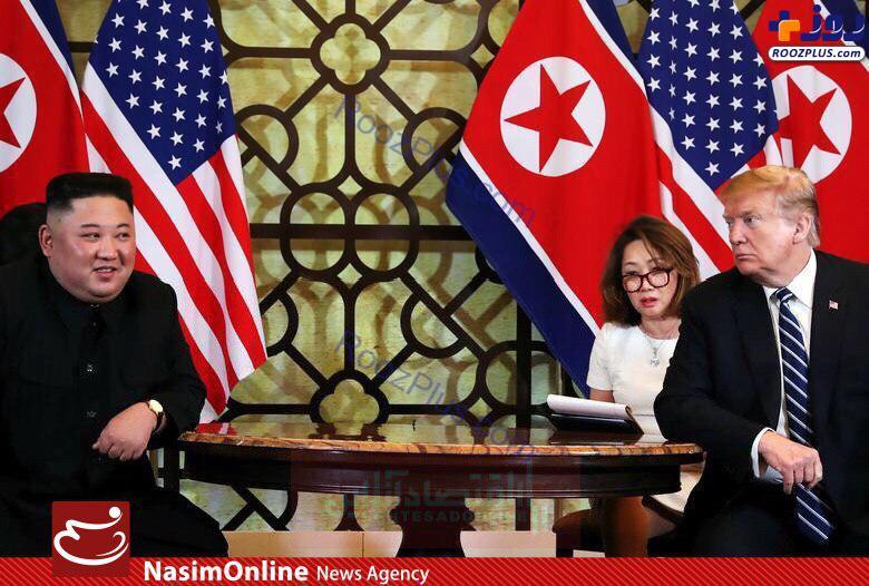 نگاه پرحرص ترامپ به کیم جونگ اون +عكس