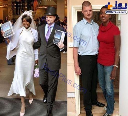 زن و شوهری با قد بسیار عجیب و باورنکردنی+عکس