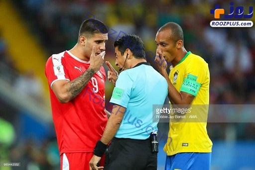 جدیت داور ایرانی در بازی صربستان و برزیل+عکس