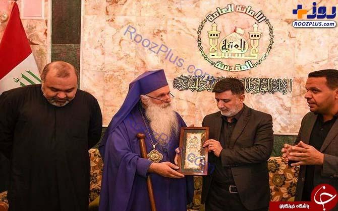عکس/ حضور کشیش مسیحی در راهپیمایی اربعین
