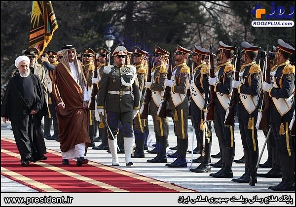 استقبال رسمی روحانی از امیر قطر +عکس