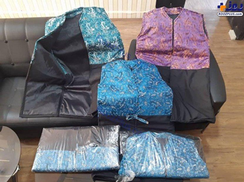 کشف لباسهای تریاکی در مرز بازرگان/عکس