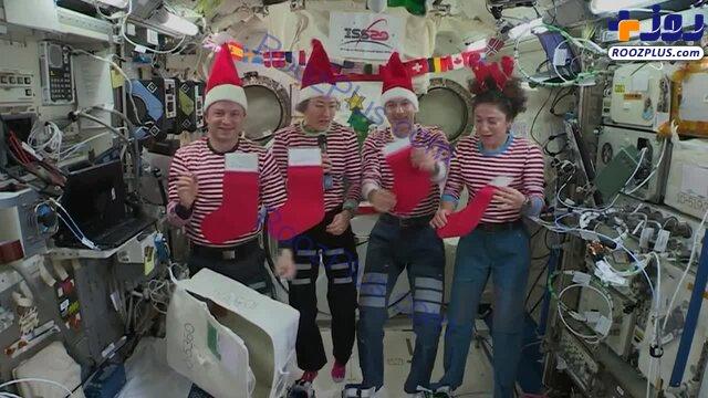 جشن کریسمس در ایستگاه فضایی بینالمللی +عکس