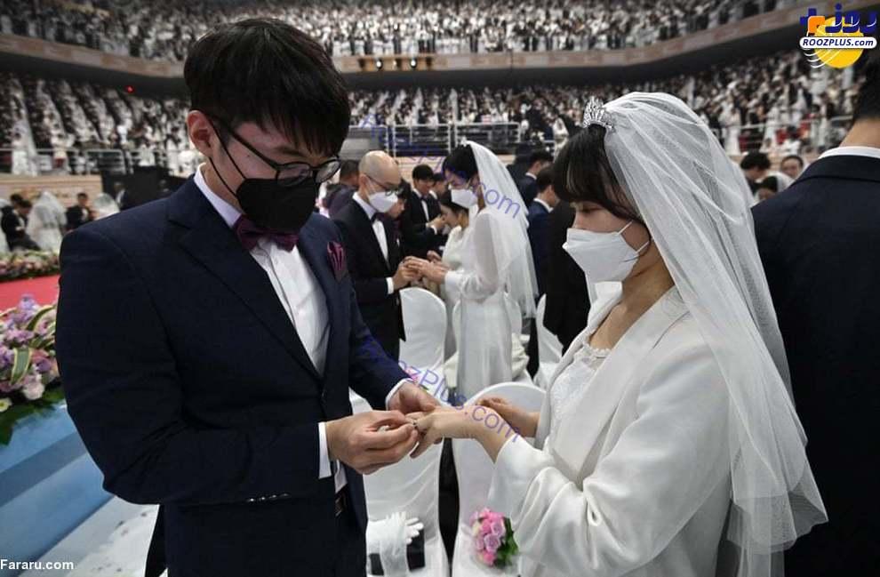 ازدواج دستهجمعی در کرهجنوبی با ماسک+عکس