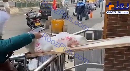ابتکار تماشایی یک فروشنده برای محافظت در برابر کرونا!/عکس