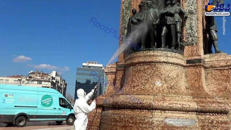 ضدعفونی معابر ترکیه +عکس