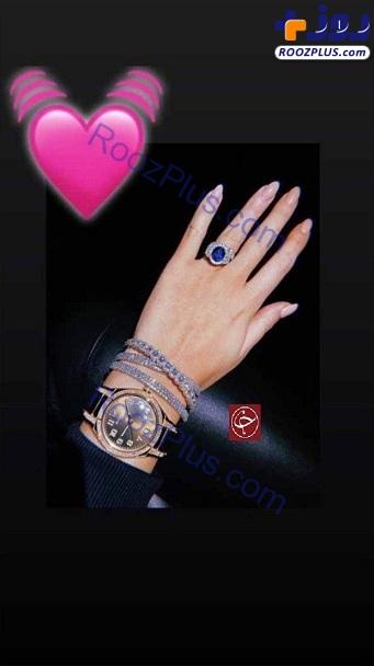فخر فروشی نامزد رونالدو با جواهراتش+عکس