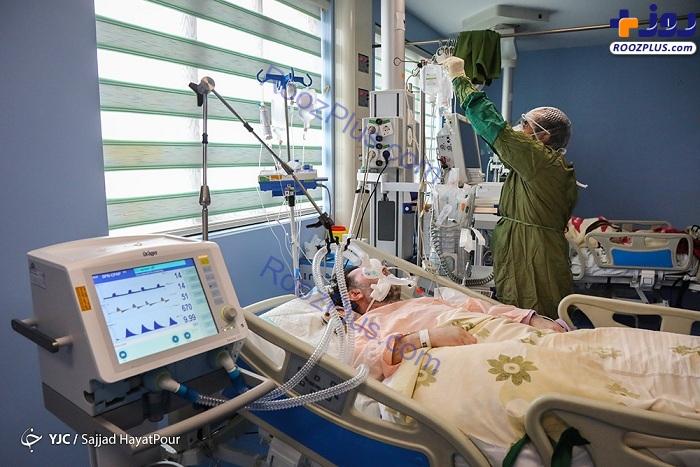 عکس/بخش مراقبتهای ویژه کرونا در بیمارستان فرقانی قم
