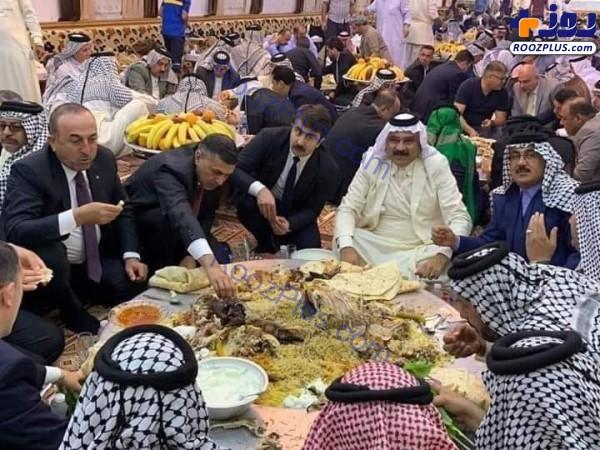 ولیمه عشایر بصره برای وزیر امور خارجه ترکیه +عکس