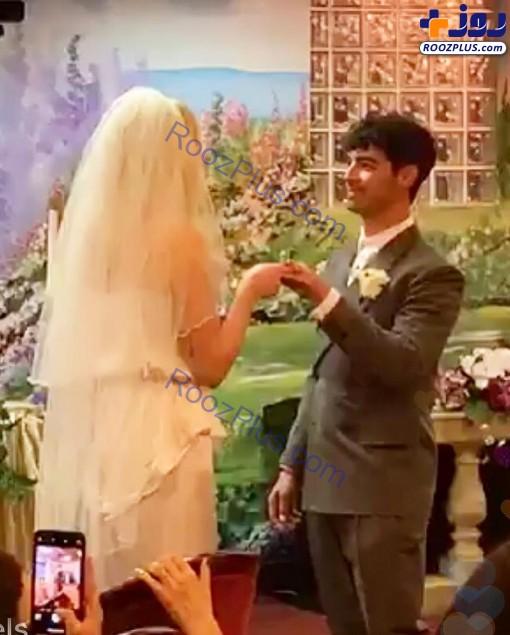 ازدواج غیرمنتظره بازیگر معروف در لاس وگاس+ عکس