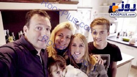 مارک ویلموتس در کنار همسر و فرزندانش +عکس
