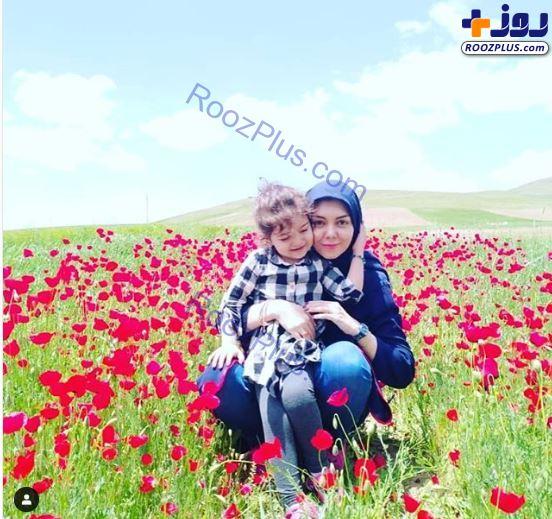 آزاده نامداری و گندم وسط گلهای شقایق +عکس