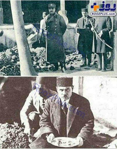 رضاشاه در حال نبش قبر کریم خان زند +عکس