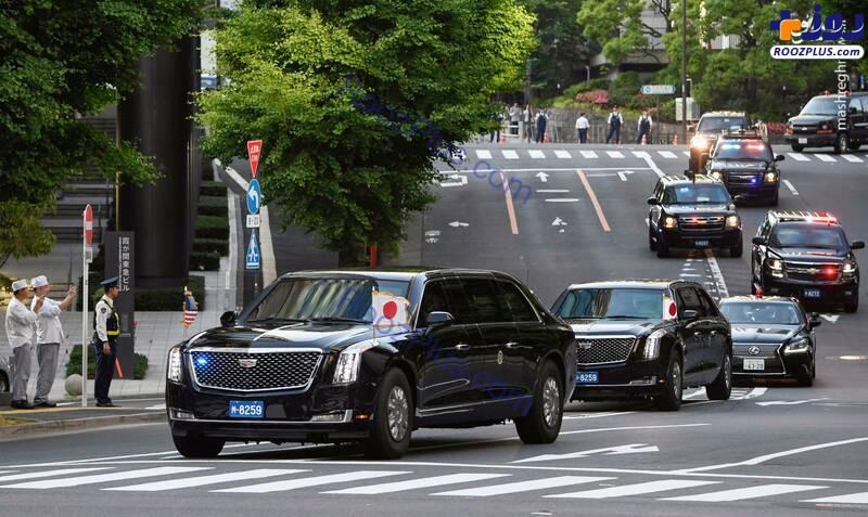 کاروان اسکورت ترامپ در ژاپن +عکس