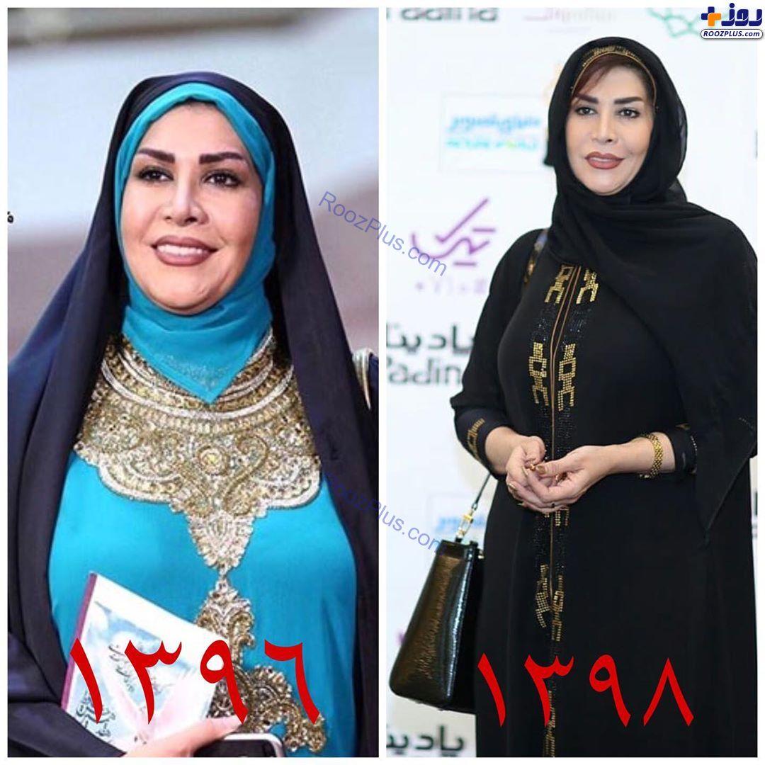 استایل متفاوت خانم مجری در نوزدهمین و شانزدهمین جشن حافظ +عکس