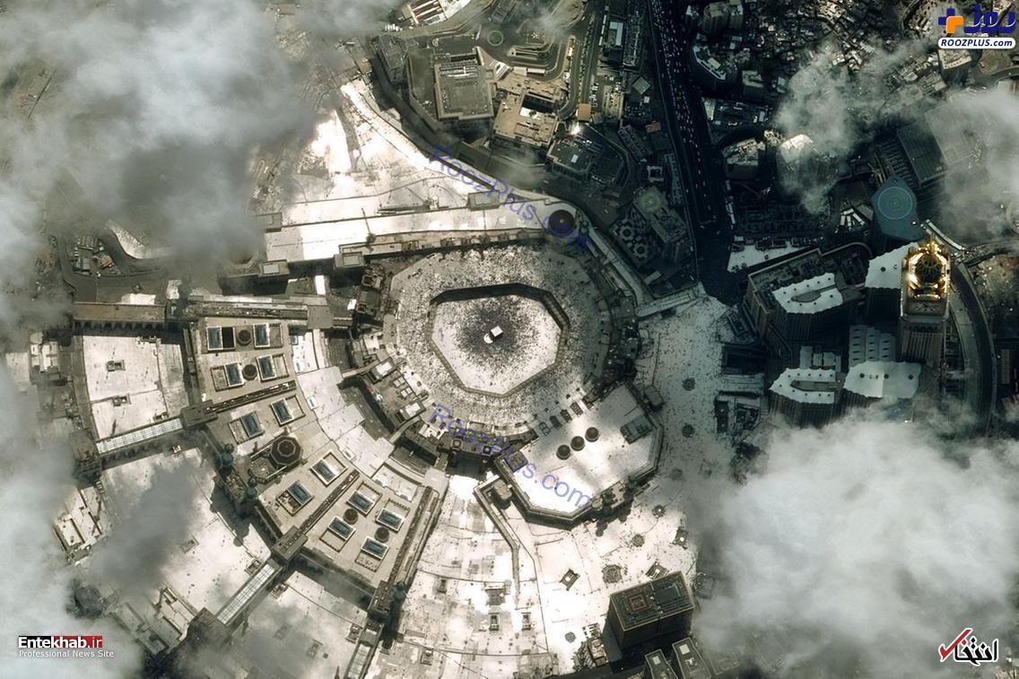 تماشای خانه خدا از بالای ابرها +عکس
