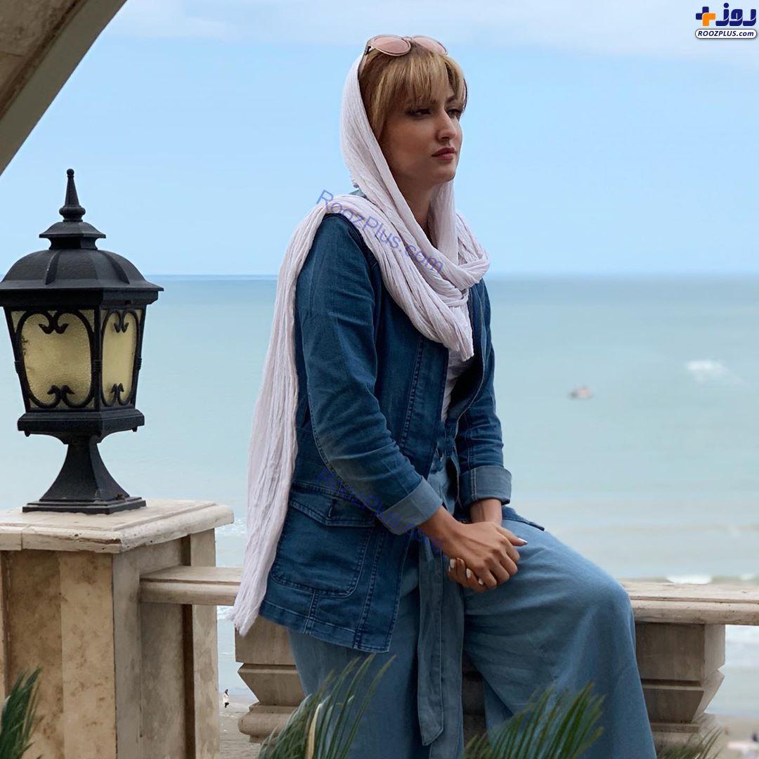 خانم بازیگر در کنار دریا +عکس
