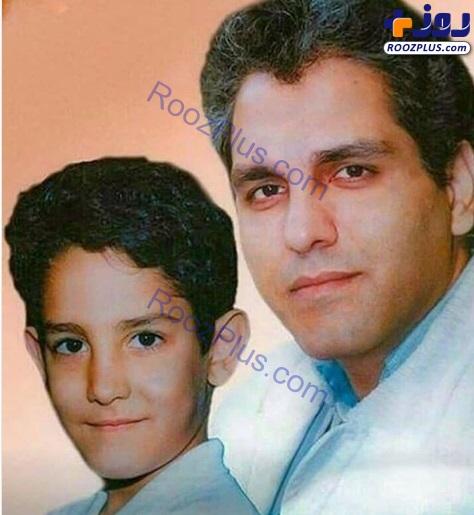 عکس/مهران مدیری و پسرش فرهاد در دهه هفتاد