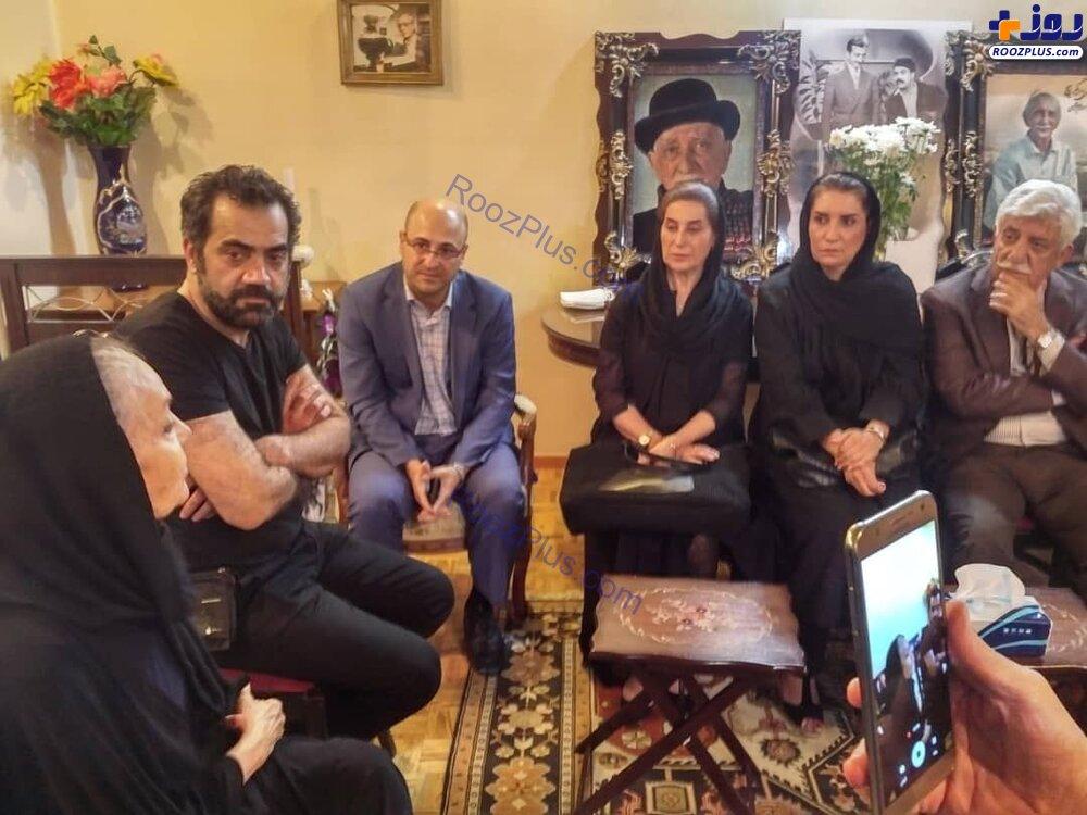 حضور فاطمه معتمدآریا و جمعی از هنرمندان در خانه داریوش اسدزاده +عکس