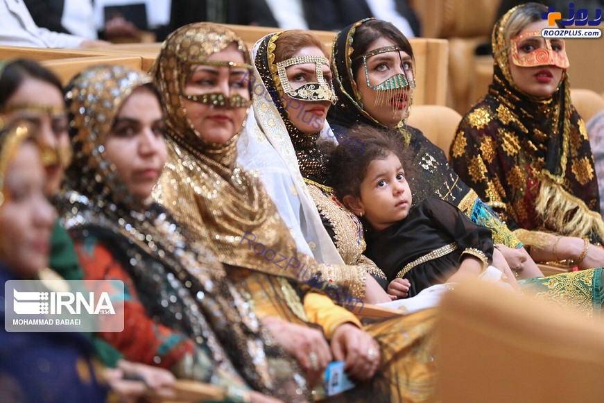 پوشش سنتی اقوام ایرانی در همایش دستاوردهای دولت +عکس