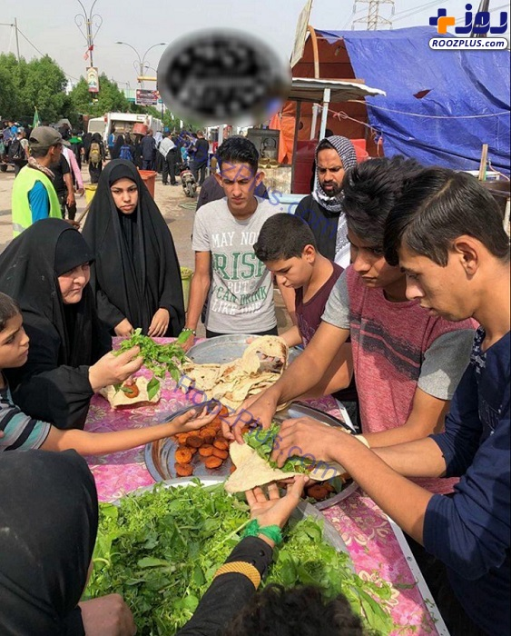 عکس/خدمات عراقی ها به زوار اربعین