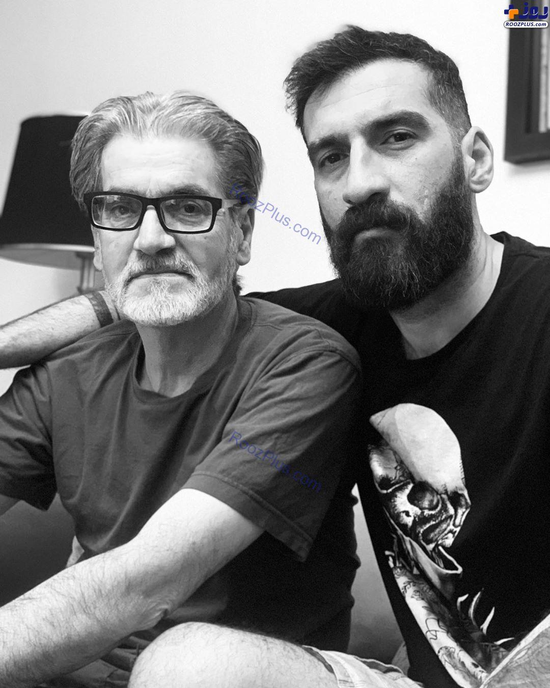 عکس/پدر و برادر متین ستوده